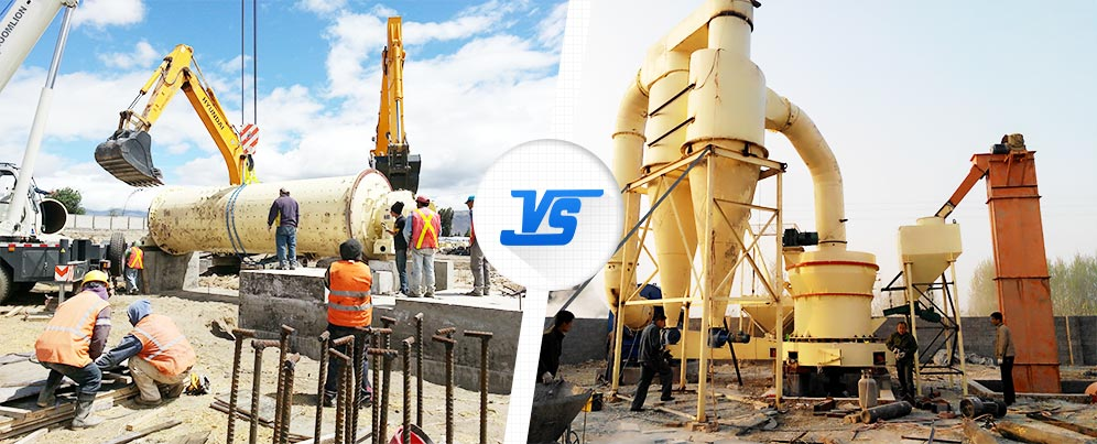 Difference and Choice of 2 Common Mills, Ball Mill and Grinding Mill