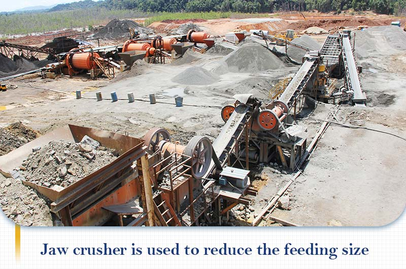 Jaw crusher works with ball mill to reduce the feed size.jpg