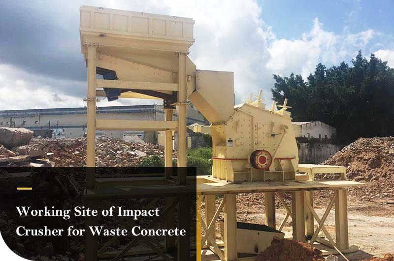 Fote Impact Crusher is  Processing Waste Concrete.jpg