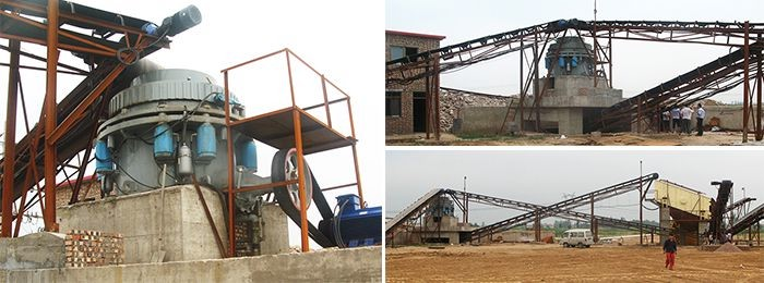 Working Site of Hydraulic Cone Crusher