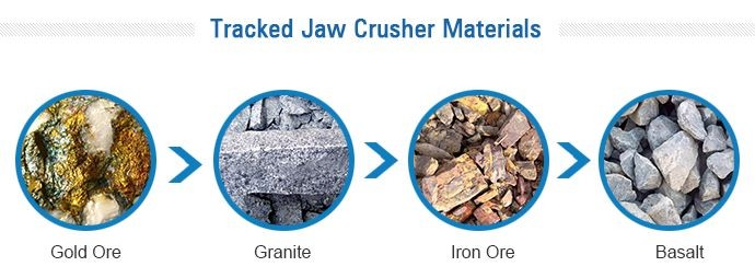 Tracked jaw crusher materials