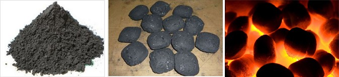 Raw Material and Final Briquettes